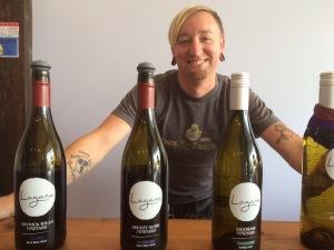 Jason Fox with Lagana Cellars Wine