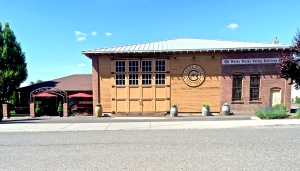 The original trolly house:  The Walla Walla Traction Co. on Cherry St. is home to Canoe Ridge Vineyard's tasting room.