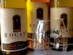 Locati Cellars white and rose' wines with #GOTR W2 commemorative glasses