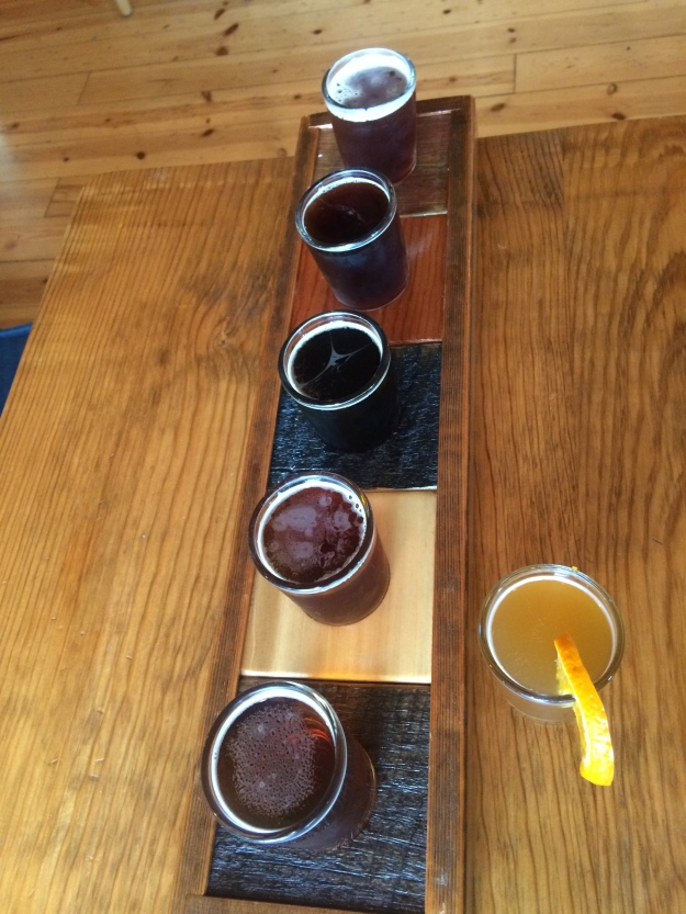Flight of six beers at Mutiny is brewing.