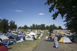 Tent city on the Veterans Golf Course Thursday through Sunday in Walla Walla for GOTR; Union Bulletin photo.