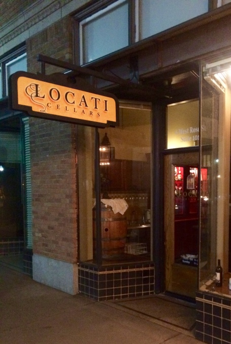 Locati Cellars sign