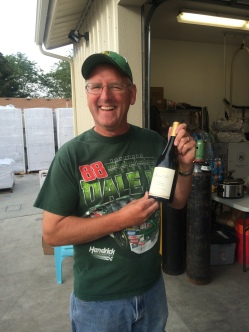 ustard Seed Cellars Chardonnay, their first white, is now bottled!