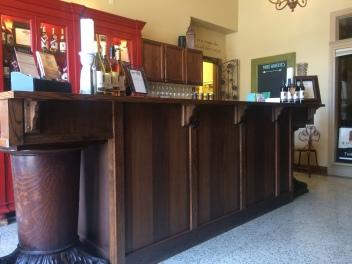 Tasting room bar in Locati Cellars.