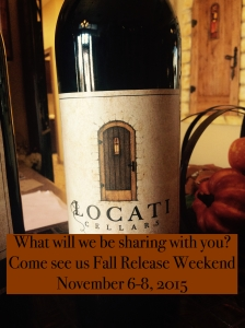What will Locati Cellars release the first weekend of November during Fall Release?