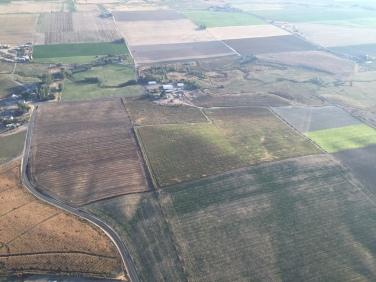 Aerial view of Locati Farm.