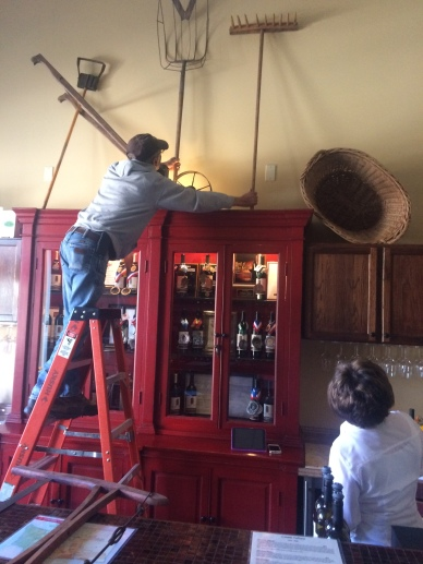 Locati Cellars decorating team working hard.