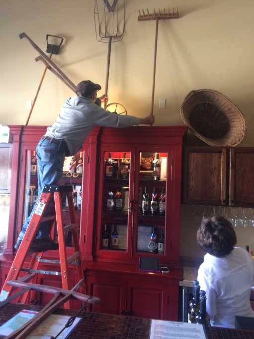Locati Cellars decorating team working hard.