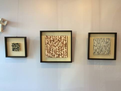 Todd Bernave's mixed media art in Lagana Cellars tasting room.