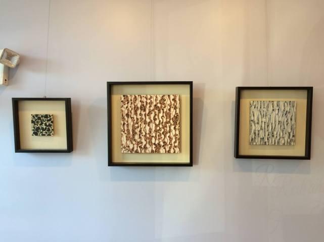 Todd Bernave's mixed media art in Lagana Cellars tasting room.