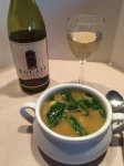 Calypso Beef Soup paired with Locati Cellars 2014 Walla Walla Pinot Grigio; a good pairing.