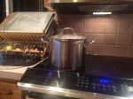 Cooking turkey and vegetable stock from scratch for soup and general cooking liquids.