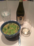 Calypso Beef Soup paired with College Cellars 2014 Viognier; the better pairing.