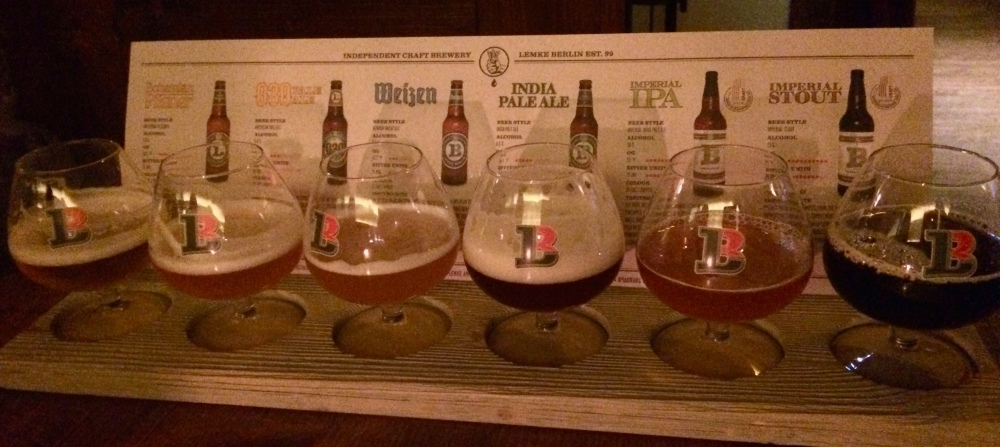 Lagers and ales comprise the Lemke Brewery's flight of deliciously smooth, well balanced and flavorful beers.