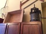 Vintage sausage making bin and link maker in Locati Cellars tasting room.