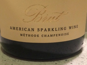 Brut Sparkling wine to pair with bacon and kumquats.