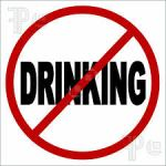 Monday through Thursday we aren't drinking alcohol for a while. Convenient clipart, right?