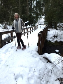 Sweetempranillo snowshoeing for the first time.