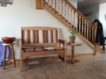 These pieces, including the trim, banister and balustrade are all handmade in the wood shop at SHB.