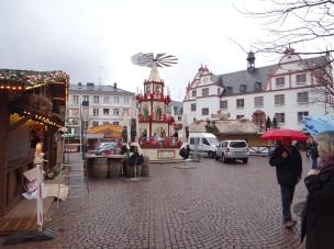 Heidelberg, Germany Christmas Village going in for 2015.