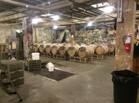 Overbluff Cellars new barrel room.
