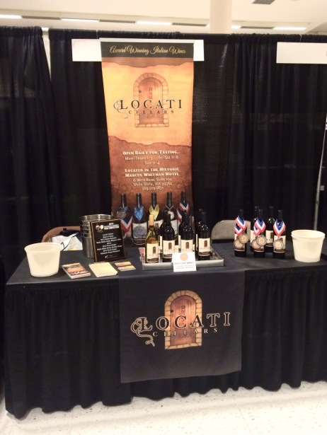 Locati Cellars booth at the Seattle Wine and Food Expo last weekend.