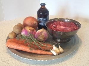 Irish stew ingredients.