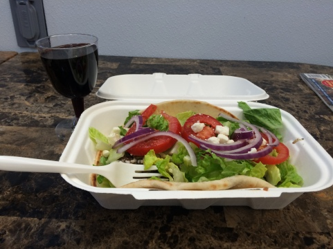 gyro and malbec