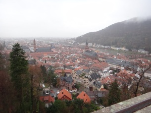 Heidelberg, Germany from the castle ruins.