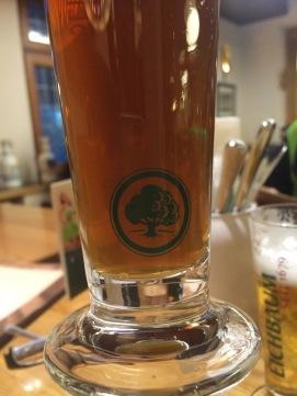 Eichbaum brewery logo on glass.