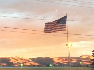 Walla Walla Fairgrounds American Flag