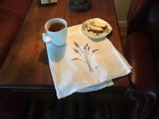 Lavender tea towel