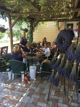 Making Lavender Wreaths