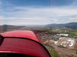 Tillamook: town and bay from the air.