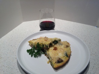 Frittata and Barbera for dinner