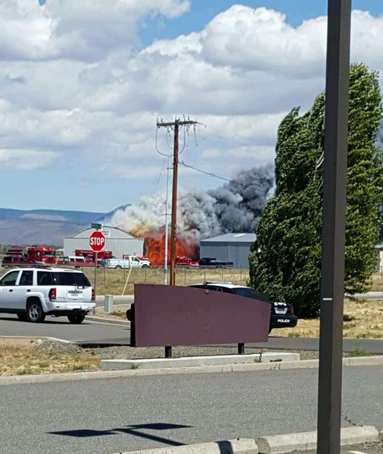 Fire at CWU Maintenance Hangar 0721 2016