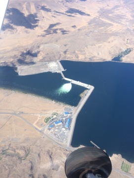 Wanupum Dam aerial view