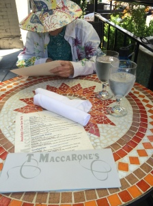 Lunch at T Maccarone's.