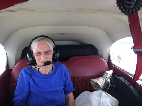Back seat is comfortable in the Cessna 182.