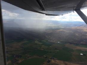 Storms over Manastash Ridge, Kittitas Valley.