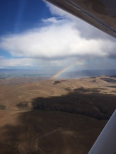 Rainbow over Manastash Ridge, Kittitas County.