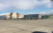 CWU Flight Program maintenance hangar damaged.