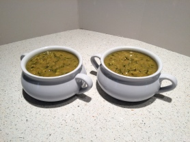Curried Zucchini Soup for dinner.