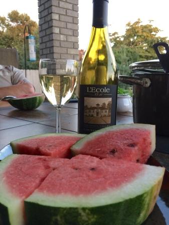 Fresh watermelon and Chenin Blanc