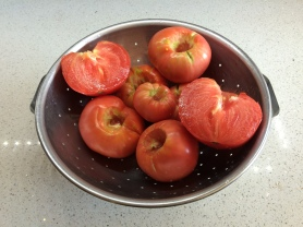 'German Pink' tomatoes from our garden.