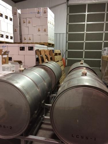 Fermenting Orange Muscat to dry wine.