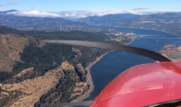 Flying into Hood River, OR
