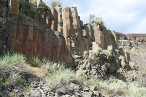 Basalt columns on the Lenore Cave hike.